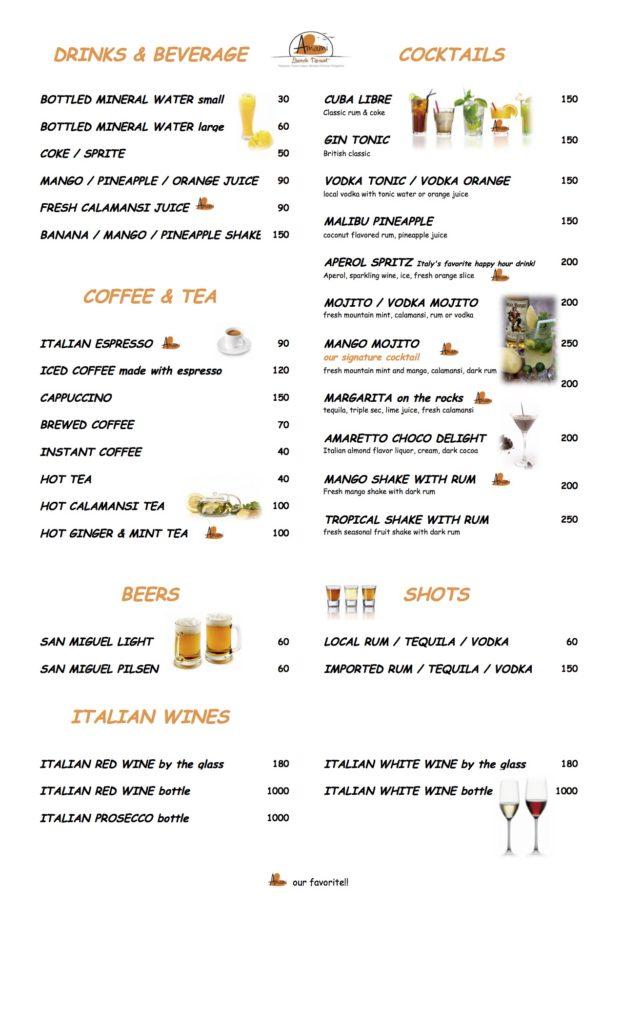 ABR - drinks menu front - APRIL 2018